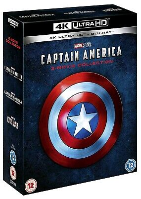 Captain America 3 Movie Collection  (Bluray 4K) Uhd Includes 2D Bluray