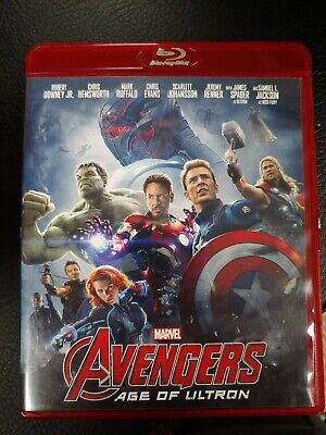 Avengers: Age of Ultron (Blu-ray Disc, 2015) Red Case rare