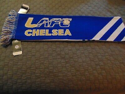 NEW! CHELSEA FC Knit Soccer Scarf  ADIDAS MLS Officially Licensed - REVERSIBLE
