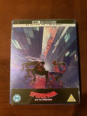 SPIDER-MAN INTO THE SPIDER-VERSE 4K UHD + Blu-Ray Zavvi Steelbook
