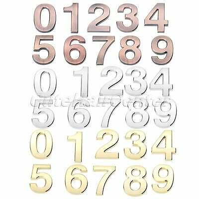 Plastic Door Numbers Plate Plaques Sign Stickers Polished Self Adhesive 3D 10cm