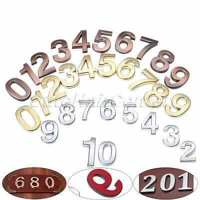 Self Adhesive 3D Plastic Door Numbers Plate Plaques Sign Stickers Polished 5cm