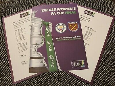 SSE WOMEN'S FA CUP FINAL WEST HAM UNITED v MANCHESTER CITY ORIGINAL TEAMSHEET!!!