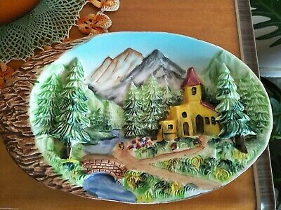 Lovely Vintage Ceramic Decorative 3D Wall Plate