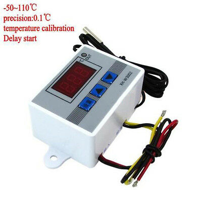 Digital LED Temperature Controller 10A Thermostat Switch Waterproof Probe NTC10K
