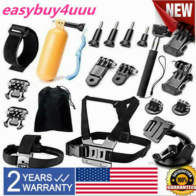 Head Chest Mount Accessories Kit For GoPro Hero 4/3+/3/2/1 &SJ4000/5000/6000 NEW