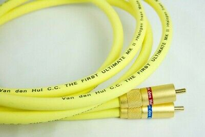 VAN DEN HUL The First Ultimate MKII RCA Cable - 1m pair