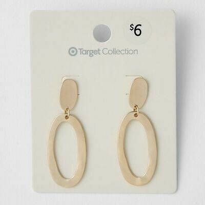 NEW Organic Oval Drop Earrings