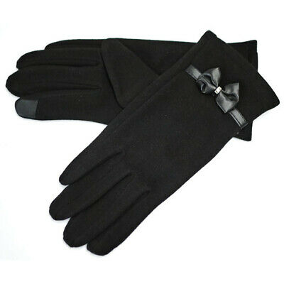 Women Ladies Touch Screen Winter Warm Fleece Lined Thermal Gloves Mitten