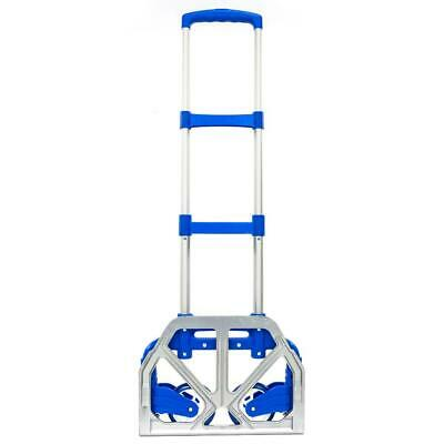 Portable Aluminium Cart Fold Dolly Push Truck Hand Collapsible Trolley Luggage