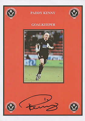 PADDY KENNY Signed 12x8 Print SHEFFIELD UNITED FC The Blades COA