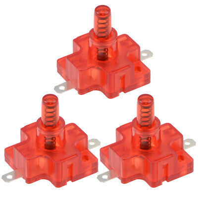 Anti Tilt Switch AC 250V 16A 11mm Push Button for Patio Garden Heaters Fan 3pcs
