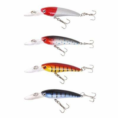 Floating Diving Plug Minnow Lure Hard Bait Crank Bait Fishing Tackle LA