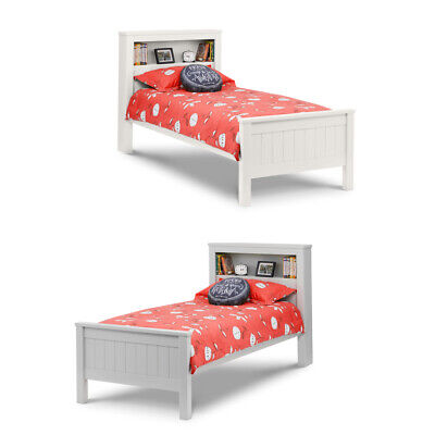 Maine Wooden Bookcase Storage Bed with 2 Colour and 4 Mattress Options