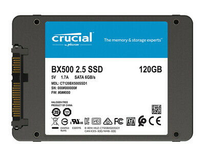 Crucial 120GB Solid State Drive SATA III 3D NAND Internal SSD 2.5'' 6Gb/s BX500