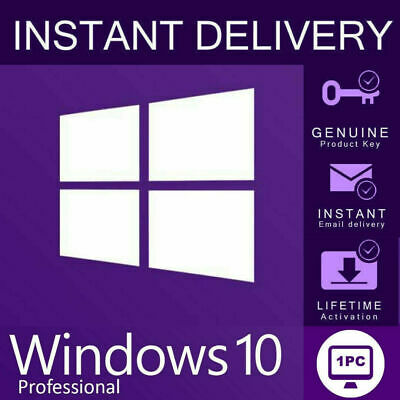 Windows 10 Pro Key Instant Email Delivery 64/32 Bit Activation Code Licence Key