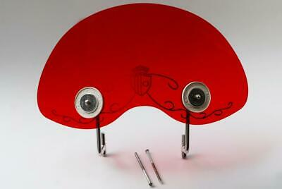 Royale Biemme Flyscreen in Translucent Red for Lambretta Series One 1
