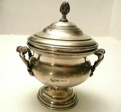 Sugar Bowl Silver 800 Antique Vintage Years' 40 Florence Italy
