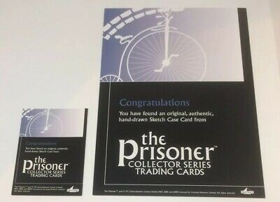 The Prisoner Collector Series Blank Sketch Card Lot Of 2 New