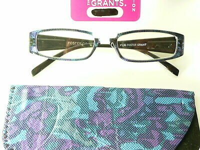 "New Womens Ladies  FOSTER GRANT  ""Indigo ""  Designer Reading Glasses RRP £10.50"