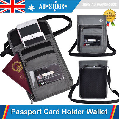Passport Cards Holder Travel Wallet RFID Blocking Organiser Pouch ID Card Money