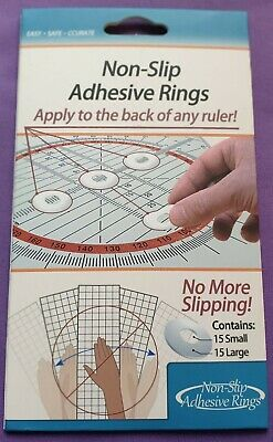 Quilt Ruler Non-slip Adhesive Grip Rings For Patchwork Rulers1 x 15 ring pk