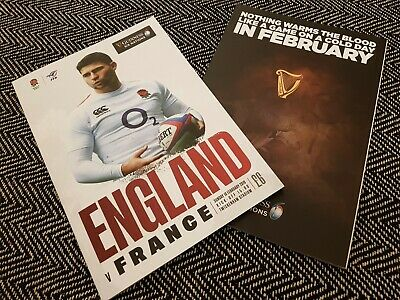 ENGLAND vs FRANCE GUINESS SIX NATIONS 2019 Rugby Union Programme 10/02/19!