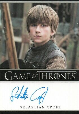 Game of Thrones Season 7, Sebastian Croft 'Young Ned Stark' Autograph Card