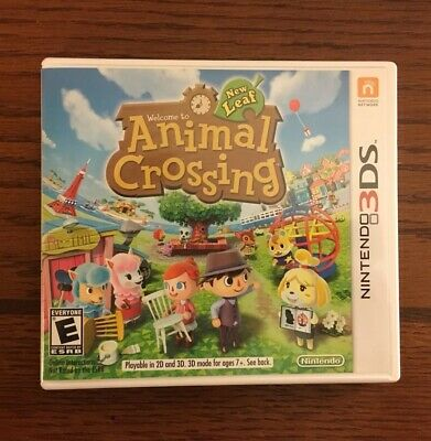 Nintendo 3Ds 2013 Animal Crossing New Leaf Game Cartridge Only