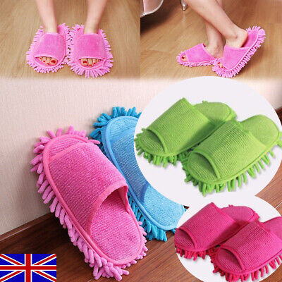 A pair Mop Slippers Lazy Floor Foot Socks Shoes Quick Polishing Cleaning Dust LT