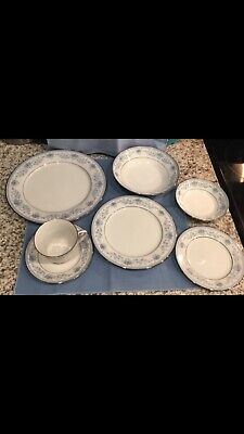 Contemporary NORITAKE Blue Hill Fine China - 7 piece place setting RETIRED -2482