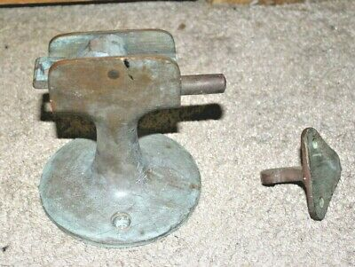 Antique Old Solid Brass Door Holder Heavy Duty Architectural Hold Open Vintage