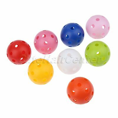 10/20/50 Pcs Airflow Hollow Perforated Plastic Golf Balls Ball Practice Training
