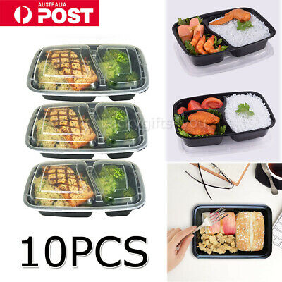 10X Meal Prep Plastic Food Storage Containers Freezer Microwavable Lunch Box