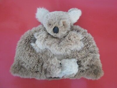 Vintage Real Fur Koala Bear Tea Cozy Australian Souvenir Rabbit Fur Retro 50s