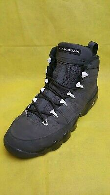 sneakers for cheap 90d6c 165d9 GS Air Jordan Retro 9 BG Anthracite White Black Shadow Gray Youth (Size