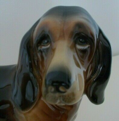 Bloodhound Dog China Ornament Coopercraft Blood Hound Animal Pet Collectable