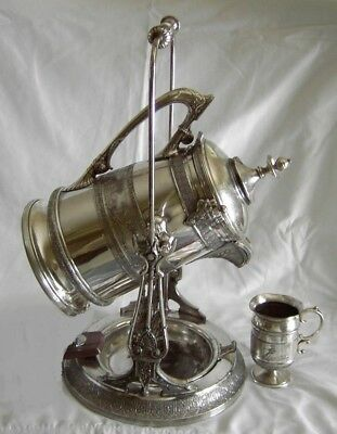 REED & BARTON Silver plate Tilting ICE Water Pitcher VERMONT PRESENTATION SET