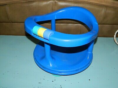 Vintage 1989 Safety 1st baby suction cup bath tub seat Blue made in USA