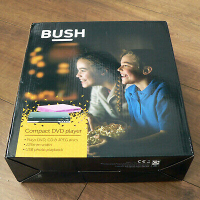 BUSH Compact Black DVD Player with SCART and USB Photo Playback (AV N)