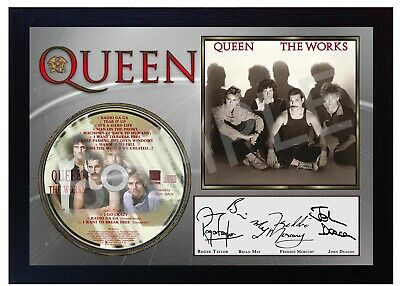 QUEEN Freddie Mercury Queen SIGNED Autographed FRAMED PHOTO CD Disc