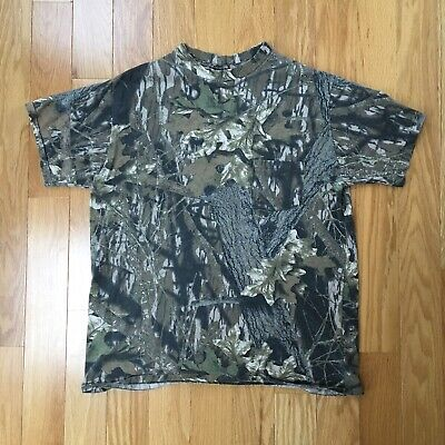 6fbb3578d6672 Vintage Mossy Oak Camo Pocket Single Stitch Tshirt Mens Large Made In The  USA