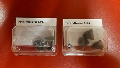 POWER SIZE 3 Genuine PAIR of 2 NEW Phonak / Unitron Hearing Aid Receivers
