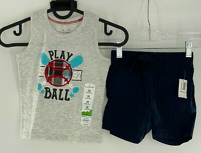 Old Navy Boy'sToddler Outfit Set Tank Top Shorts Play Ball Size 18-24 Month