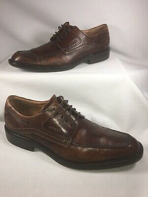 b2c8f924d4cce Men Size 44 US 10 ECCO Seattle Apron Toe Extra Width Brown Oxford Shoes  A2001