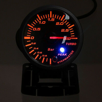 "60mm 2.5 "" Fahrzeuge LED Turbo Boost Vakuum Presse Manometer bar Meter 12v"