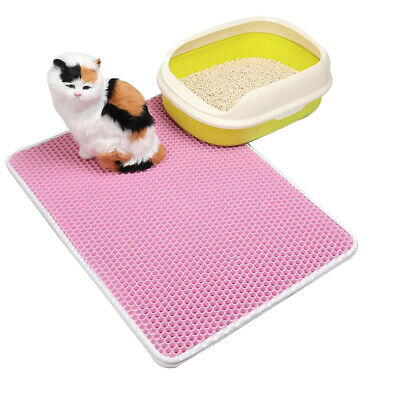 Cat Waterproof Double-Layer Cat Litter Mat Trapper Foldable Pad Pet Rug Home