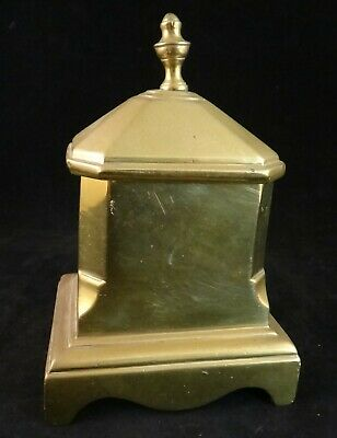 "Antique English Geo III Solid Brass Covered Tobacco Box. c. 1780-1810. 5 ¾"" tall"
