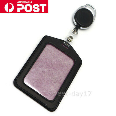 Retractable Lanyard ID Badge Opal Card Holder Business Pass Security Card Tag AU