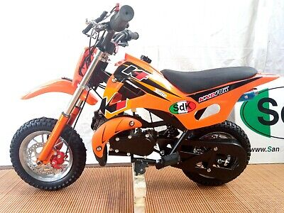Minimoto Cross minicross SDK CLASSIC 49cc pit bike 2 tempi Orange Arancio